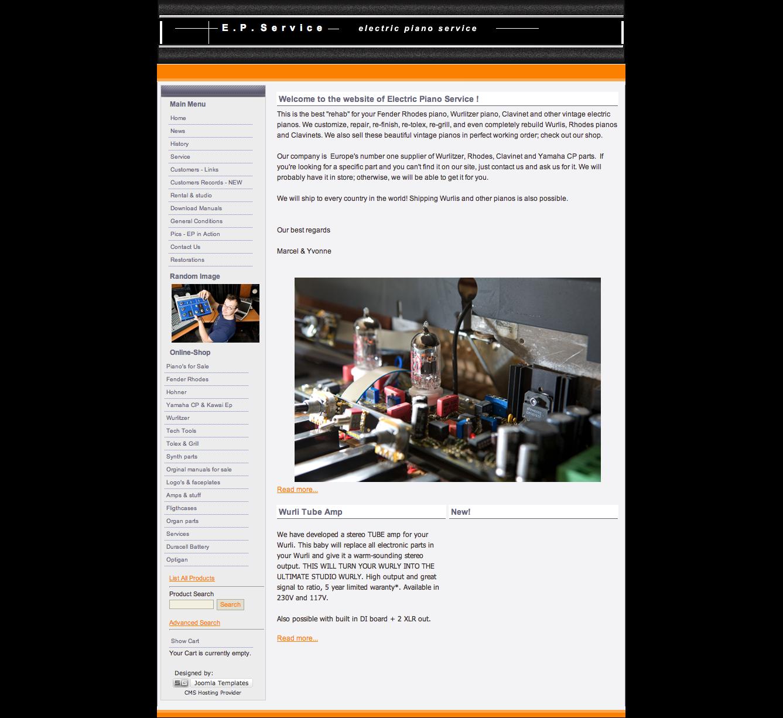 2009 - Electronic Piano Service - WebdesignPlus