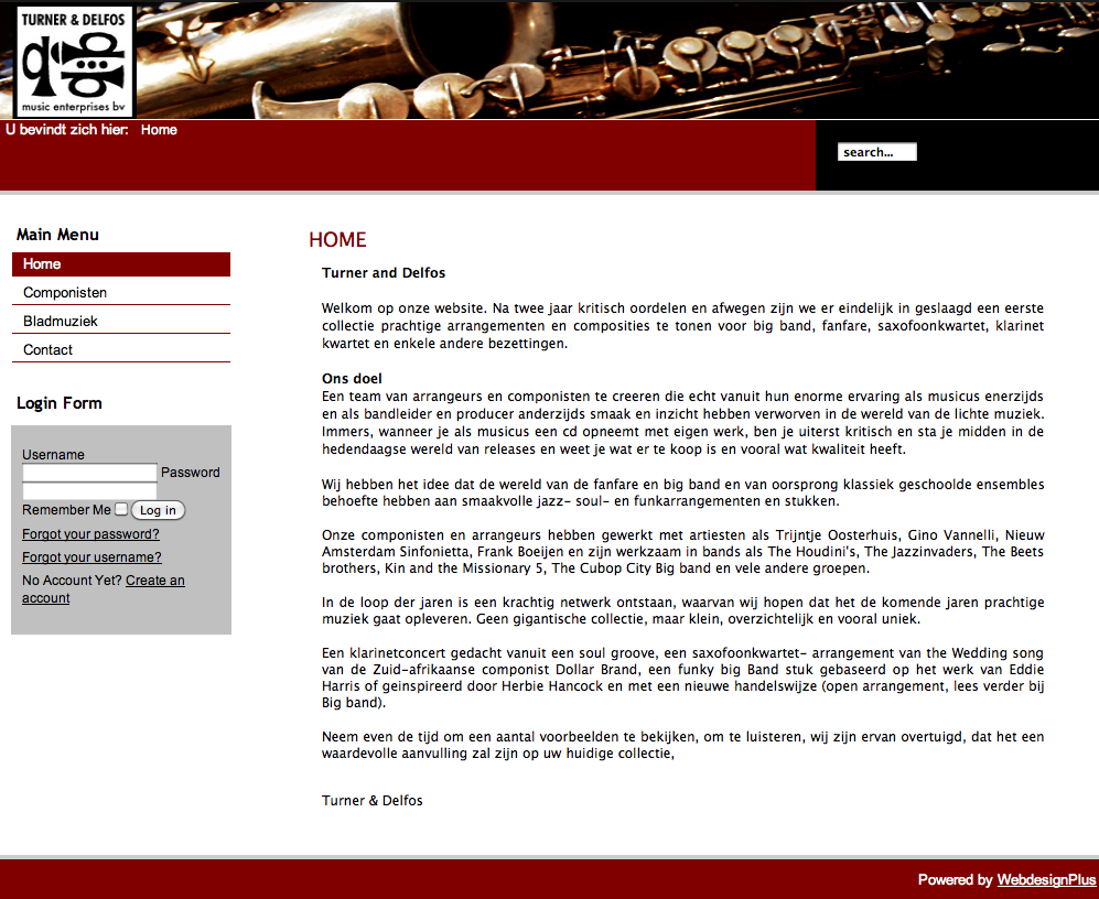 2010 - Turner Delfos - WebdesignPlus