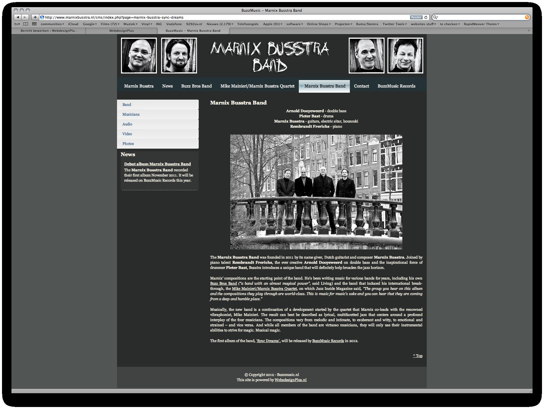 2011 - Marnix Busstra Band - WebdesignPlus
