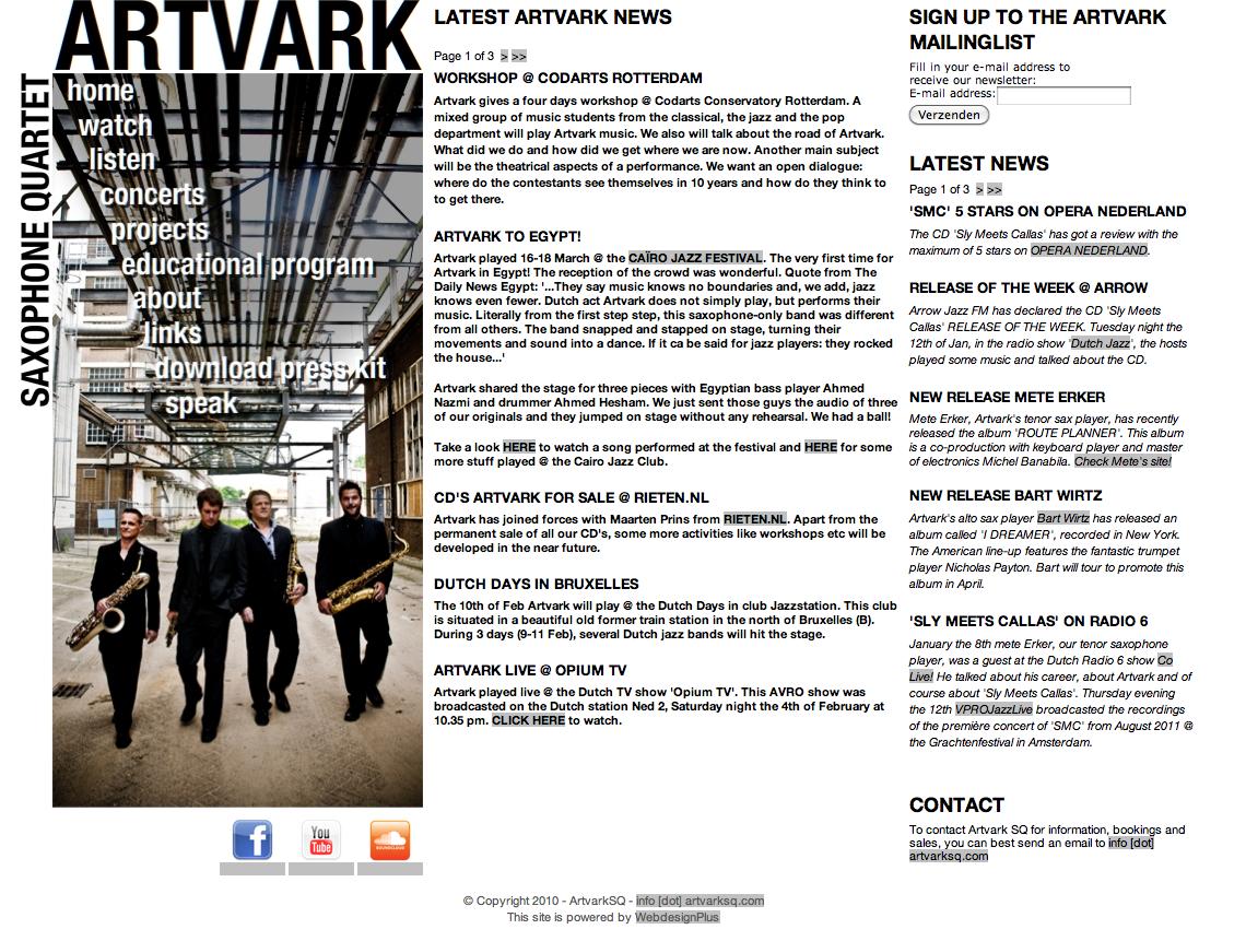 2011 - Artvark Saxophone Quartet