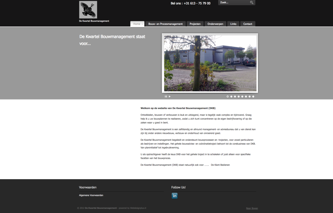 De Kwartel Bouwmanagement – 2012
