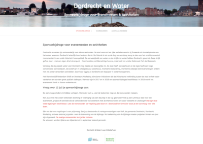 Dordrecht en Water - 2017 - WebdesignPlus