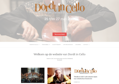Dordt in Cello - 2017 - WebdesignPlus